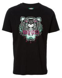 KENZO - Black 'tiger' T-shirt for Men - Lyst