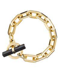 Michael Kors | Black City Link Toggle Bracelet | Lyst