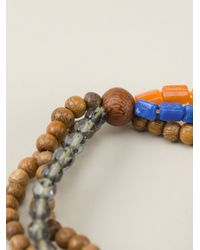 DSquared² | Blue Beaded Bracelet for Men | Lyst