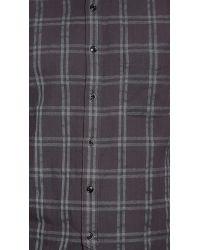 Rag & Bone | Black 3/4 Placket Shirt for Men | Lyst