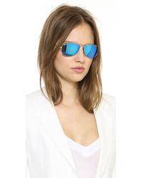 Ray-Ban - Blue Mirrored Shrunken Aviator Sunglasses - Lyst