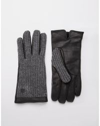 Jack & Jones - Black Woody Leather Gloves for Men - Lyst