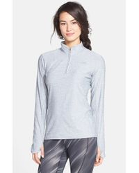 The North Face - Gray 'motivation' Quarter Zip Pullover - Lyst