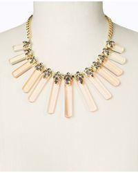 Ann Taylor - Metallic Lucite Bar Statement Necklace - Lyst