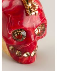Alexander McQueen | Red Mohican Skull Cocktail Ring | Lyst