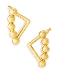 BaubleBar | Metallic 'trig' Stud Earrings | Lyst