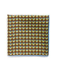 Ted Baker | Brown 'circle Medallion' Wool & Silk Pocket Square for Men | Lyst