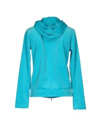 Blumarine - Blue Hooded Sweatshirt - Lyst