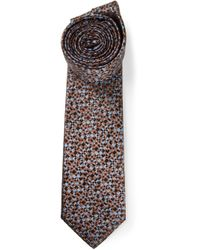 Lanvin - Blue Checked Tie for Men - Lyst