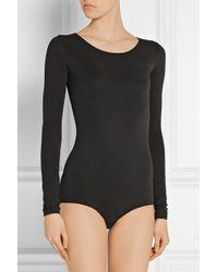 Rick Owens | Black Lilies Stretch-Jersey Bodysuit | Lyst