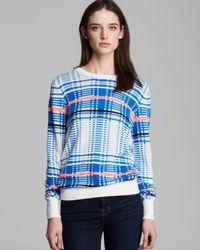 Equipment - Blue Sweater Shane Crewneck Plaid Jacquard - Lyst