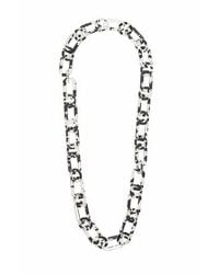 TOPSHOP - Black Marble Link Necklace - Lyst