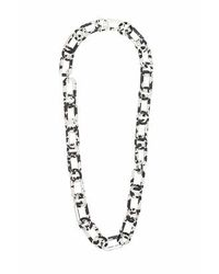 TOPSHOP | Black Marble Link Necklace | Lyst