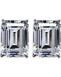 Carat* | White Emerald 1.5ct Solitaire Stud Earrings | Lyst