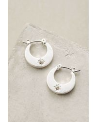 Anthropologie - Metallic Sfarzo Mini Hoops - Lyst