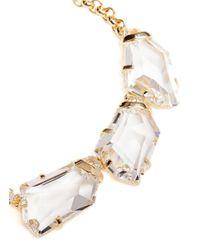 Kenneth Jay Lane | Metallic Large Crystal Necklace | Lyst
