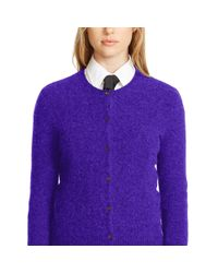 Polo Ralph Lauren | Purple Wool-cashmere Cardigan | Lyst