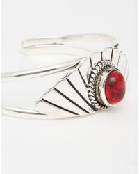 ASOS | Red Fan Shaped Open Cuff Bracelet | Lyst