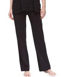 Donna Karan - Black Pima Cotton Lounge Pants - Lyst