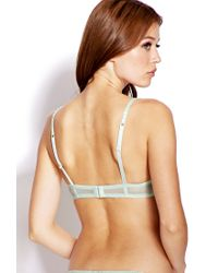 Forever 21 - Green Moderate Lace Push Up Bra - Lyst