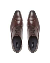 Dune | Purple Reigates Stitch Detail Oxford Shoes for Men | Lyst