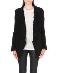 IRO | Coffey Knitted Jacket, Women's, Size: 12, Black | Lyst