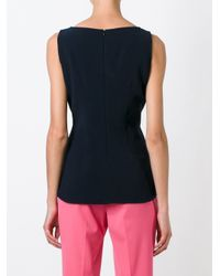 Alberto Biani - Black Fitted Tank - Lyst