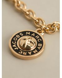 Marc By Marc Jacobs - Black Logo Charm Necklace - Lyst