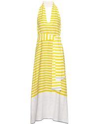 lemlem - White Lilly Striped Slub Cotton-blend Dress - Lyst