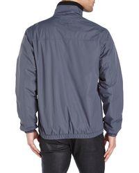 Izod - Gray Bomber Jacket for Men - Lyst