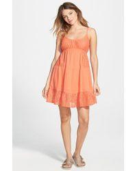 Rip Curl - Pink 'dreamweave' Babydoll Dress - Lyst
