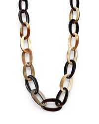 Nest | Multicolor Mixed Horn Link Necklace | Lyst
