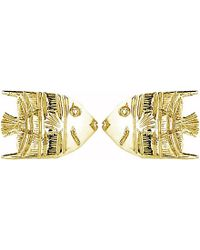 Theo Fennell | Metallic 18ct Yellow-gold Angel Fish Stud Earrings - For Women | Lyst