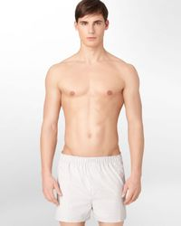 Calvin Klein - White Classic Woven Boxers, 3 Pack for Men - Lyst