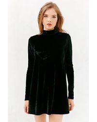 2e1fac0186719 Oh My Love Velvet Open-Back Swing Dress in Black - Lyst
