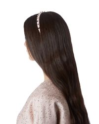 Valentino - Pink Rockstud Leather Headband - Lyst