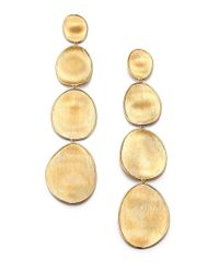 Marco Bicego | Metallic Lunaria 18k Yellow Gold Long Drop Earrings | Lyst