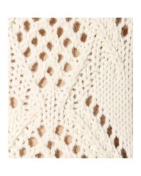 Miu Miu - Natural Wool and Alpaca Sweater - Lyst