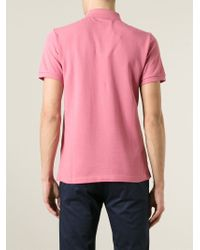 Burberry Brit - Pink Logo Embroidered Polo Shirt for Men - Lyst