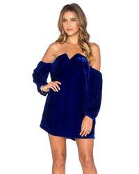 Line & Dot - Blue Paradis Velvet Tube Dress - Lyst