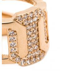 Rebecca | Metallic 'marq' Ring | Lyst