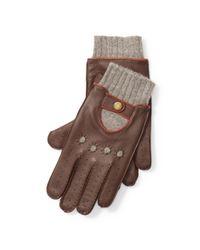 Polo Ralph Lauren | Brown Deerskin Driving Gloves for Men | Lyst