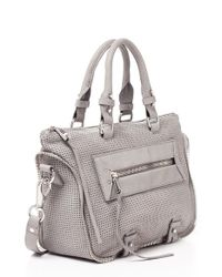 She + Lo - Gray 'mini Rise Above' Leather Satchel - Lyst