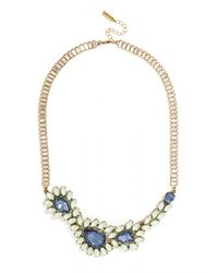 BaubleBar - Blue Asymmetrical Ivy Collar - Lyst