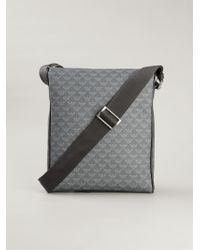 Emporio Armani - Gray Logo Print Messenger Bag for Men - Lyst