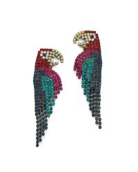 Elizabeth Cole | Green Parrot Earrings - Multi | Lyst