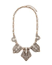 Forever 21 | Metallic Rhinestoned Pendant Statement Necklace | Lyst