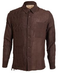 By Walid | Brown Vintage Cotton and Lace Shirt for Men | Lyst