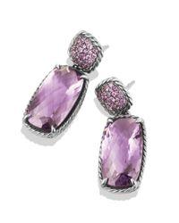 David Yurman | Metallic Chatelaine Drop Earrings With Lavender Amethyst & Amethyst | Lyst
