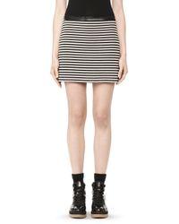 Alexander Wang | Black Flared Mini Skirt | Lyst